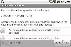 Screenshot of CLEP Chemistry Exam Prep