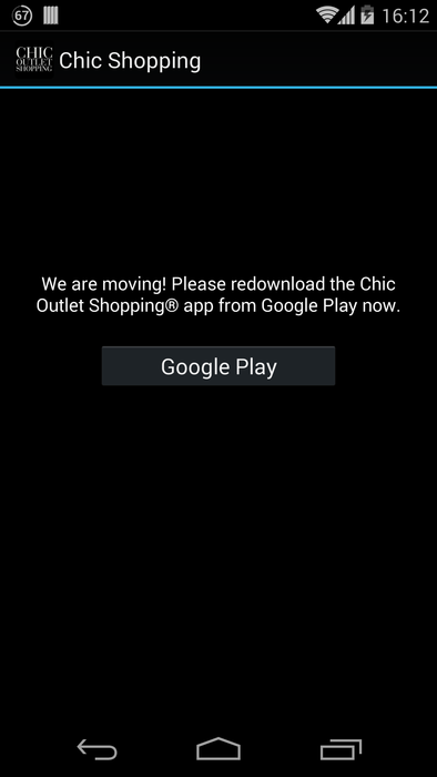 Chic Outlet Shopping® - screenshot