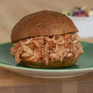 Savory Pulled Rotisserie Chicken Sandwiches.