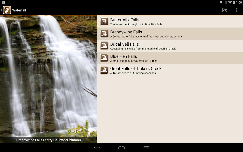 Chimani Cuyahoga Valley NP - screenshot