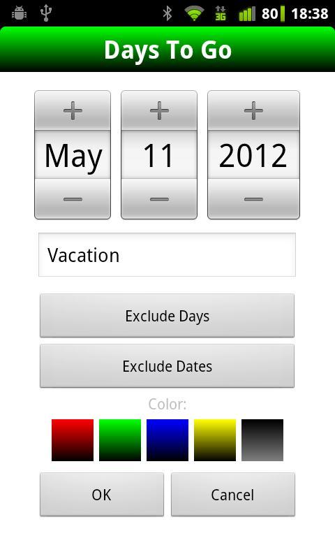 Days To Go- screenshot