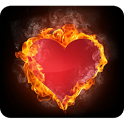 Fiery Heart Wallpaper icon