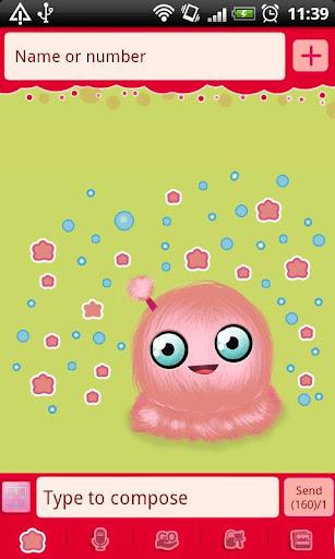 GO SMS Pro Green Mimi Theme