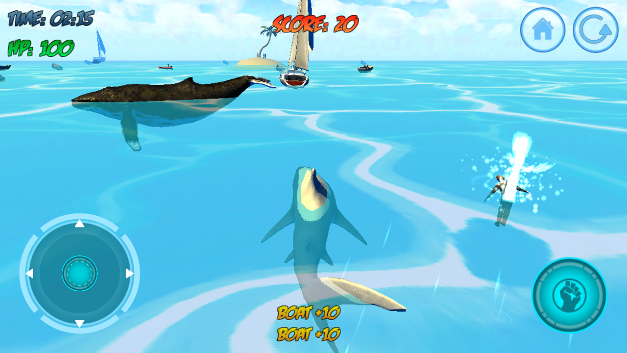 Shark Attack - Play this Game Online at