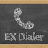 Black chalkboard EX Dialer