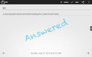 Screenshot of Mobile Knee - Prayer List