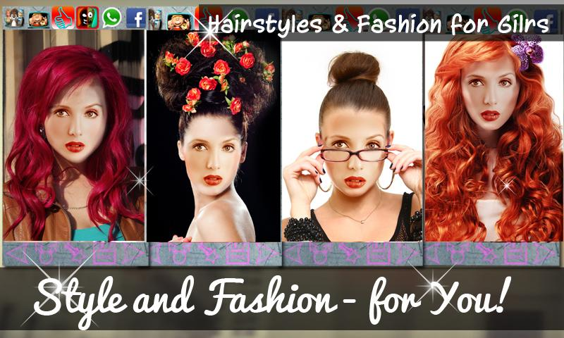 Hairstyles & Fashion for Girls- screenshot