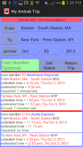 My Amtrak Trip
