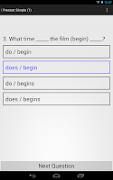 Screenshot of English Grammar Exercises