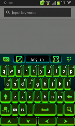 彩色键盘霓虹灯绿色免费