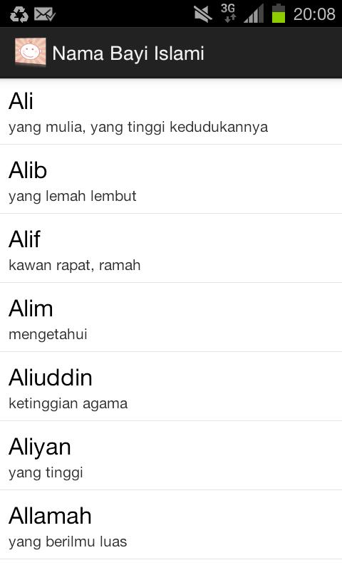 Nama Bayi Islami - screenshot