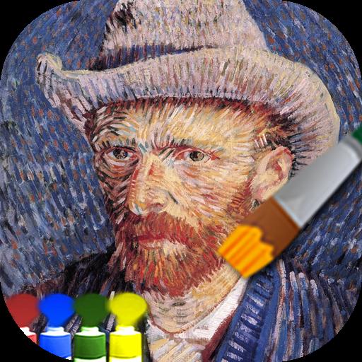 大人の塗り絵(ゴッホ) 工具 App LOGO-硬是要APP