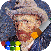 Coloring adult (Gogh)