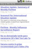Screenshot of Keep Up With The Flu