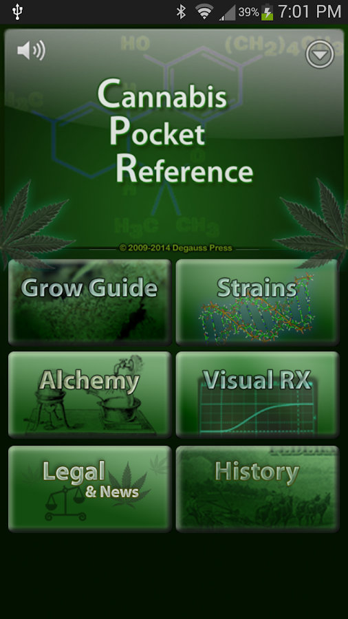 Cannabis Pocket Reference - screenshot