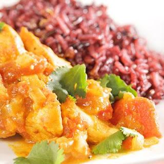 Chicken Colombo with Purple Jasmine Rice.