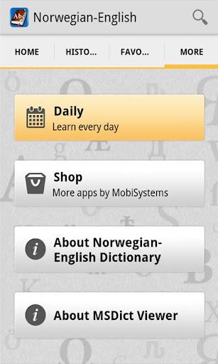 NorwegianEnglish Dictionary
