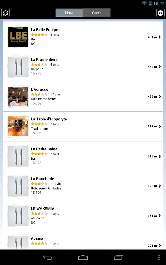 Restaurants par L'Internaute- screenshot