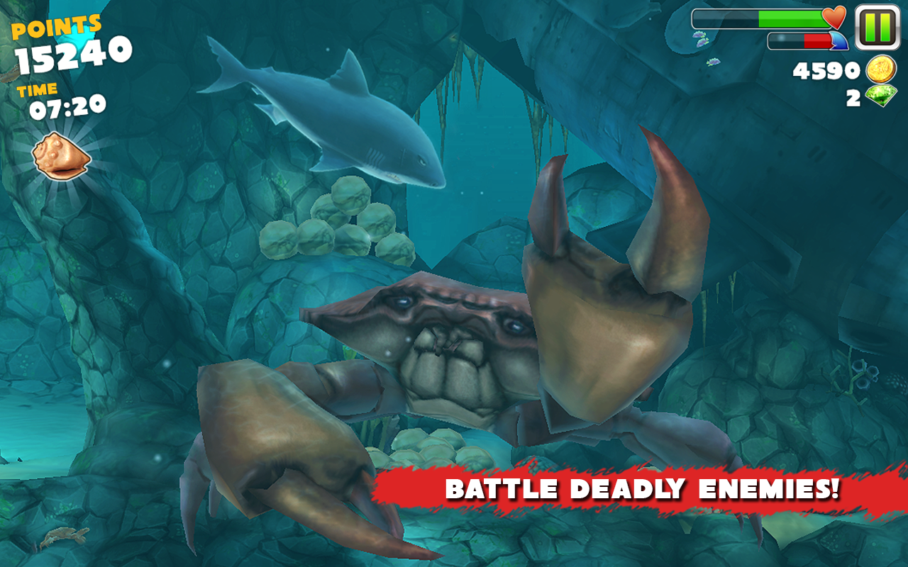 hungry shark evolution game for android new