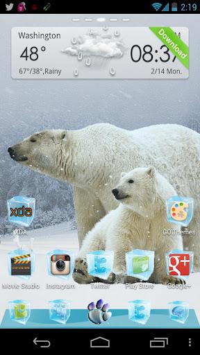 Polar Bear Winter GO Launcher