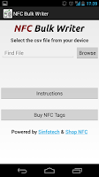 Screenshot of NFC Bulk Writer