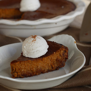 Eggnog Pumpkin Pie with Gingerbread Crust