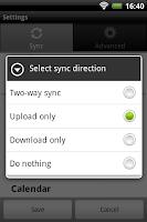 Screenshot of Memotoo sync
