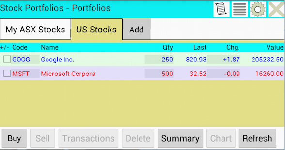 Stock Exchange Application for Windows Phone