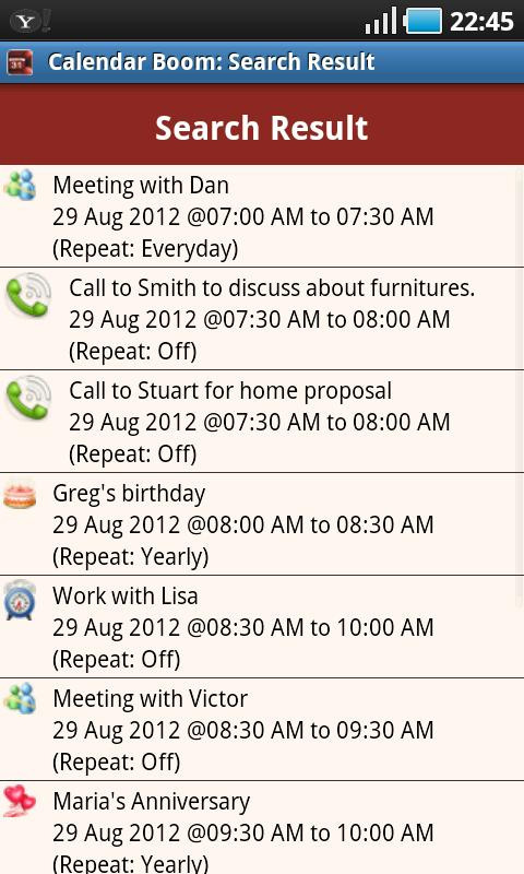 Business Calendar Boom Pro- screenshot