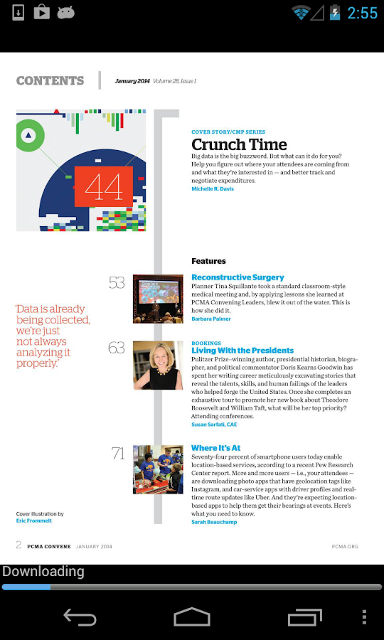 PCMA Convene Magazine- screenshot