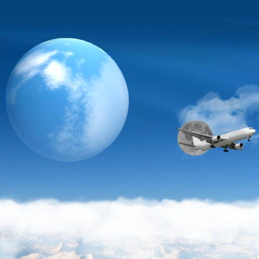 蓝色的天空背景的动画 個人化 App LOGO-APP試玩
