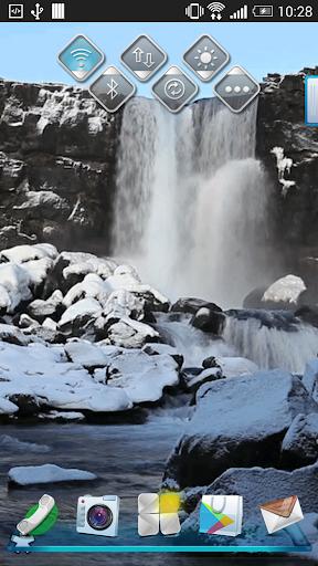 Waterfall Winter Wallpaper