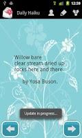 Screenshot of Daily Haiku Poems
