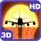 Airplane Sunset Landing icon