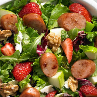 Johnsonville Strawberry and Apple Chicken Sausage Salad.