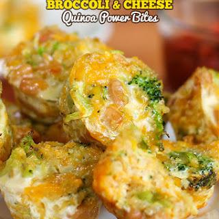Broccoli and Cheese Quinoa Power Bites.