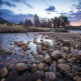 Big Thompson River Bridge by David Andrus - Landscapes Waterscapes ( estes park, colorado, big thompson river, moraine park, rocky mountain national park,  )