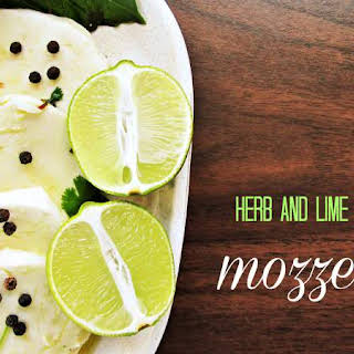 Herb And Lime Marinated Mozzarella.