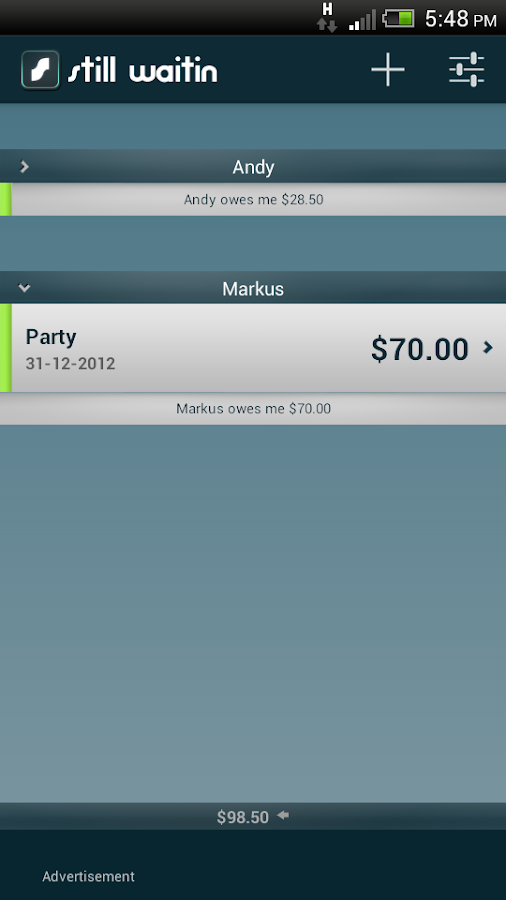 Debt Tracker IOU still waitin - screenshot