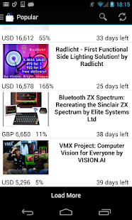 Techfunder: kickstarter & more - screenshot thumbnail