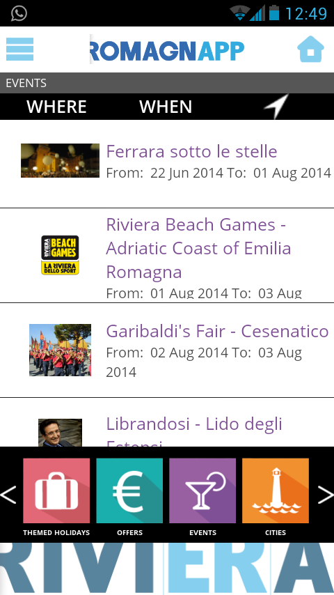 RomagnApp - Events Offers- screenshot
