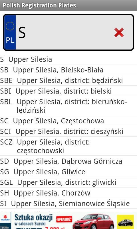 Polish Registration Plates - screenshot