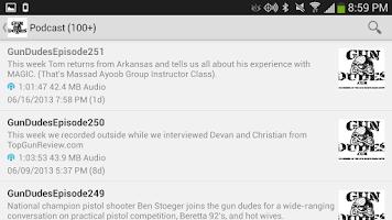 Screenshot of Gun Dudes Radio Podcast
