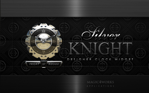 【免費個人化App】Silver Knight Clock Widget-APP點子