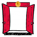 The Red Door Locker logo