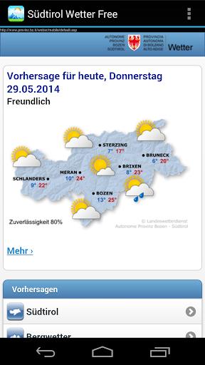 玩免費天氣APP|下載Südtirol Wetter Mobile app不用錢|硬是要APP