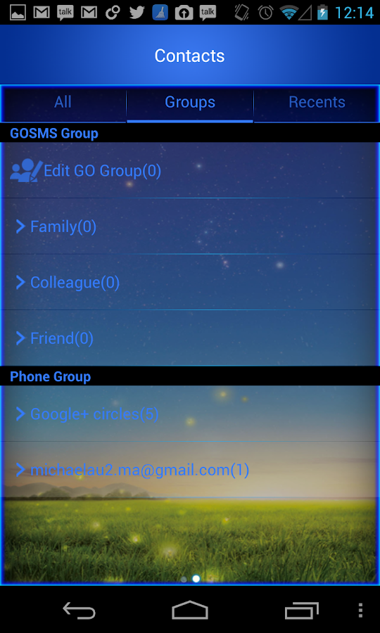 Go SMS Pro Galaxy S4 theme - screenshot