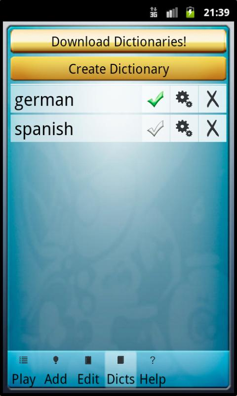Ofo Vocabulary Trainer - screenshot