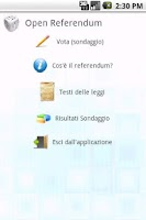 Screenshot of Open Referendum