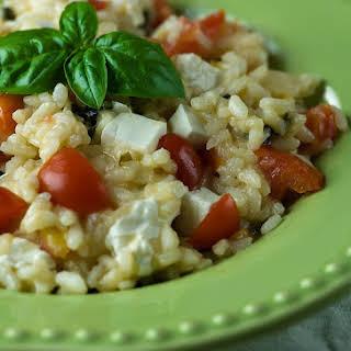 Risotto with Tomato, Basil and Mozzarella.